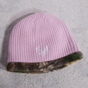 Youth's Cute Pink & Camo Reversible Warm Beanie